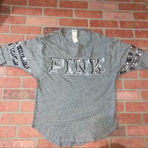 Pink Victoria's Secret Bling half sleeve shirt